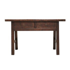 BUTCHER STYLE 2 DRAWER CONSOLE TABLE