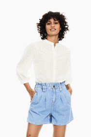 WHITE EMBROIDERY ANGLAISE BLOUSE