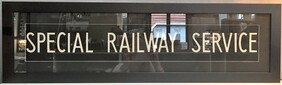 BUS BLIND - SPECIAL RAILWAY SERVICE