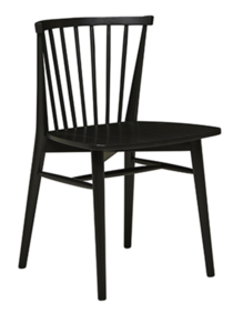 SKETCH REQUIN DINING CHAIR - BLACK