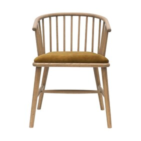 GALILIE TIMBER AND COPPER DINING CHAIR