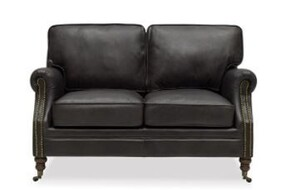 WILTSHIRE SOFA TWO SEATER - AGED ONYX