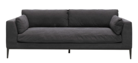 ROSSI 3 SEATER SOFA - RELAXED BLACK