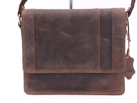 SMALL BRUSHED LEATHER SATCHEL