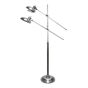 BRUSHED PEWTER STYLE FOOR LAMP 2 LIGHTS