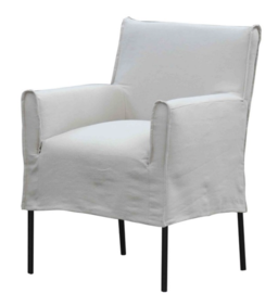 MONTE DINING CHAIR - SALT AND PEPPER